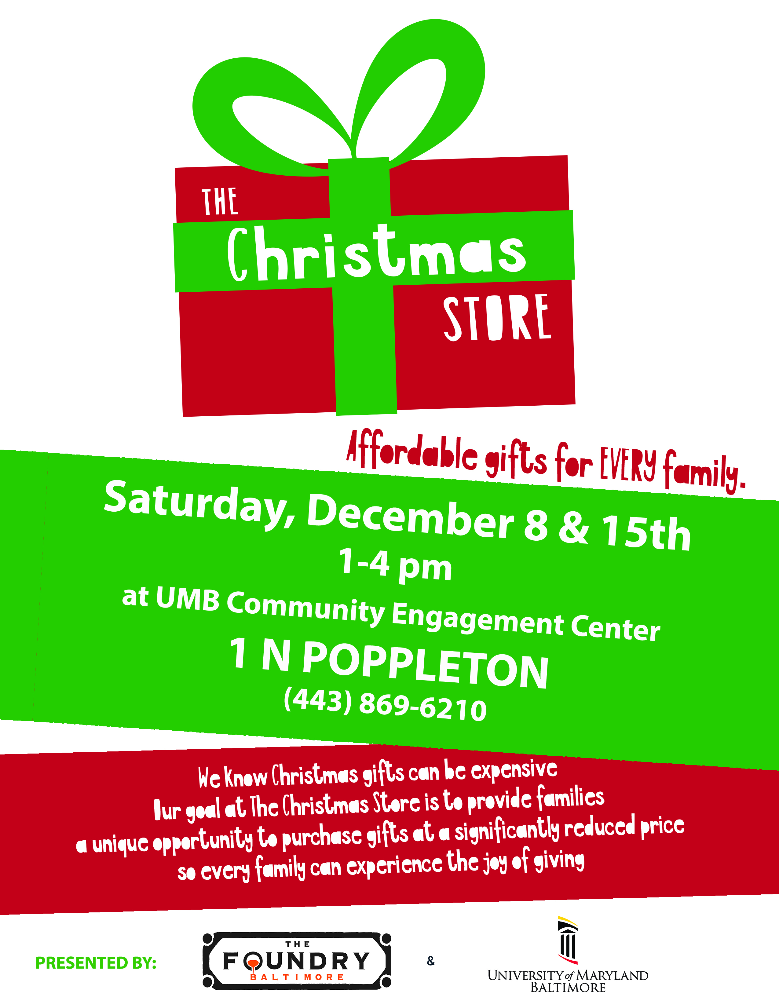 The Christmas Store – UM Partnership With West Baltimore